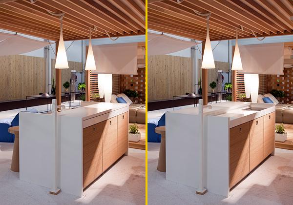 La cucina invisibile foto 1 livingcorriere - Cucine esterne da terrazzo ...
