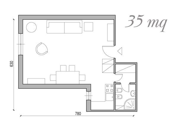 Soluzioni da 25 a 60 mq foto 1 livingcorriere for Piccoli spazi