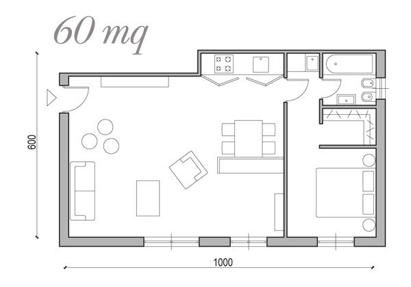Soluzioni da 25 a 60 mq foto 1 livingcorriere for Casa moderna 60 mq