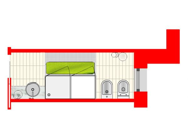 Come cambiare il bagno foto 1 livingcorriere - Progetto bagno lungo e stretto ...