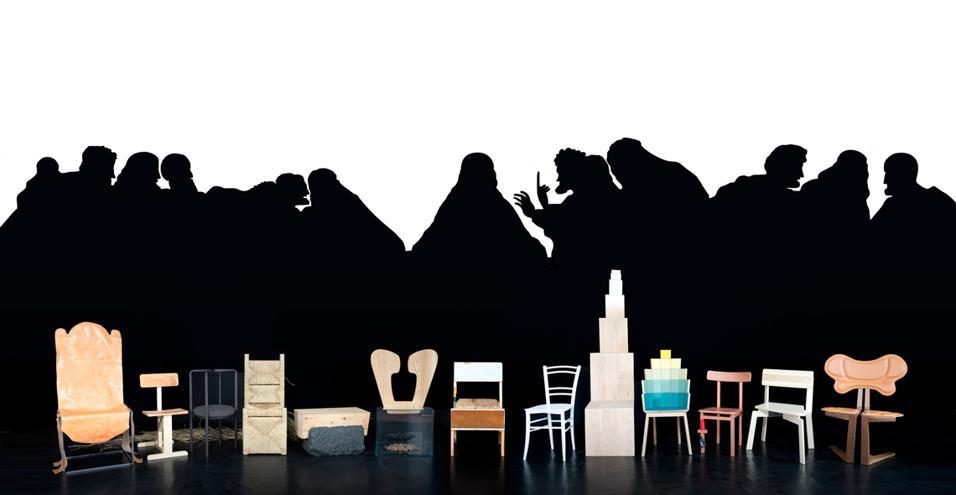 Vita E Opere Di Gesu E Dei Suoi Apostoli Raffigurate Attraverso Sedie Di Design