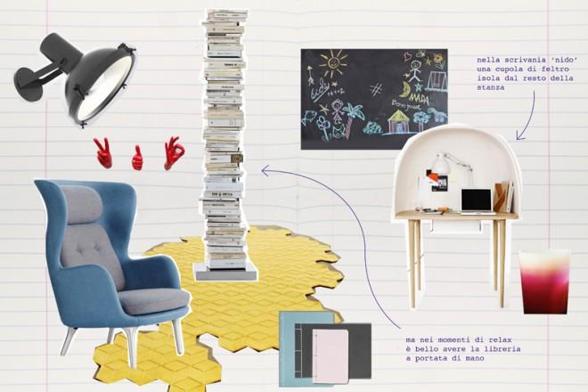 Divano Tavolino Integrato Pelland Free : Scrivania per soggiorno affordable un angolo studio nel