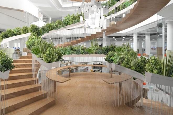 The Living Staircase di Paul Cocksedge: la scala diventa abitabile e green nel nuovo progetto del designer inglese