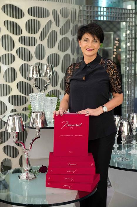 Madrina d'eccezione per la presentazione del libro Daniela Riccardi, CEO Baccarat dallo scorso giugno