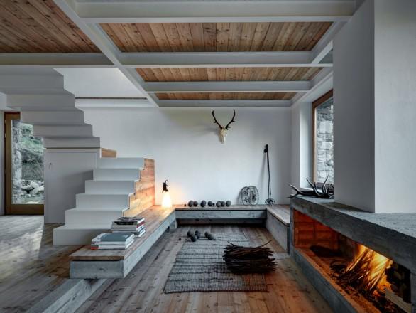 Arredamento Casa Di Montagna : Arredare casa in montagna foto living corriere