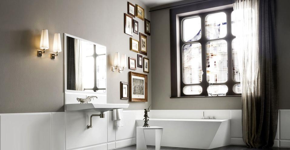 30 idee per l 39 illuminazione bagno - Lampadari x bagno ...