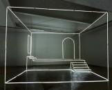 L'interno domestico intitolato «Uno studio», opera site specific per il LCGA di Limerick realizzata con neon e trasformatori