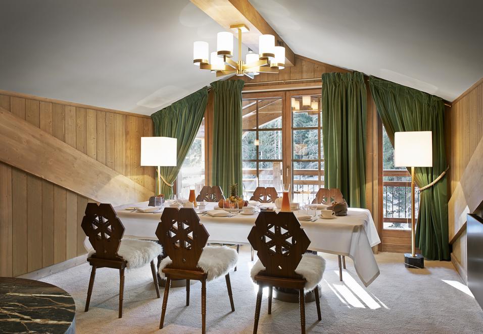 Foto Dello Chalet Pearl A Courchevel : Arredare casa in montagna foto living corriere