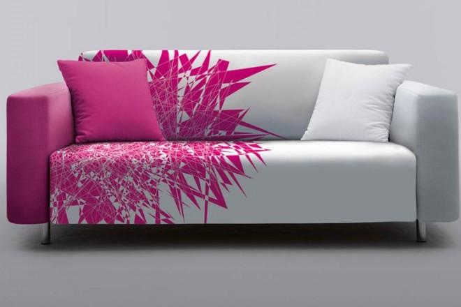 All Round Design è il progetto pensato da Luca Boffi. Una collezione di arredi e cover intercambiabili in vendita a prezzi accessibili. In foto Xplode Magenta il rivestimento firmato Karim Rashid