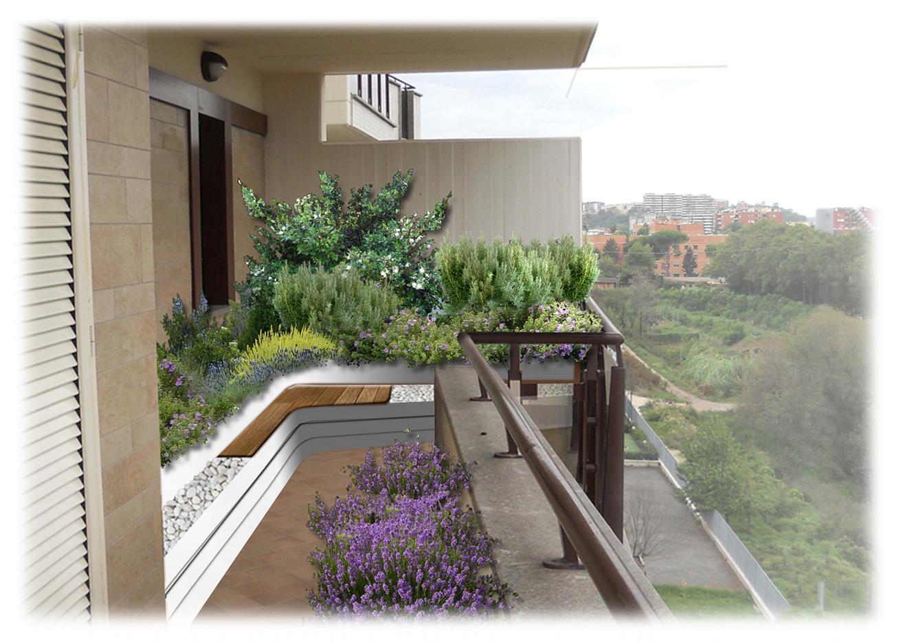 Piante Balcone Est : Come decorare il balcone con le piante mediterranee foto