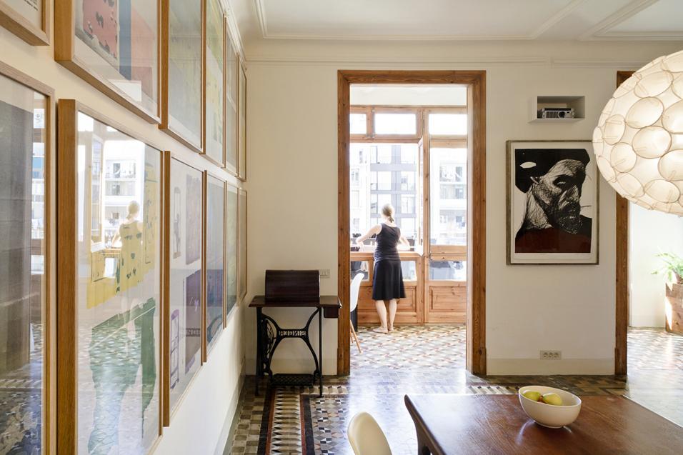 Colori accesi, accostamenti arditi e soluzioni originali: 4 case eclettiche Barcellona, Spagna