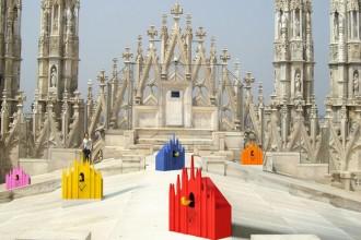 Gli orologi Diamantini&Domeniconi sulle terrazze del Duomo per scandire il tempo della design week milanese