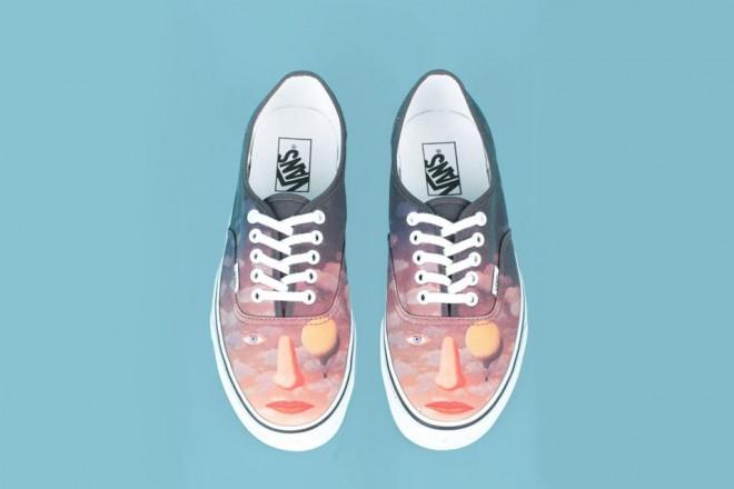 Il surrealismo di Magritte sulle sneakers Vans. La nuova limited edition del brand Opening Ceremony