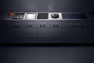 Il marchio tedesco degli elettrodomestici professionali per la cucina Gaggenau  stupisce per la tecnologia futuribile e per il connubio con i metodi di cottura del passato.Vario cooktops serie 400 di Gaggenau
