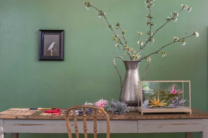 Andrea Merendi, fiorista e creativo romagnolo, realizza per Living una dalia cactus in carta crespa. Pensata per allestimenti e vetrin è, perfetta anche in casa.