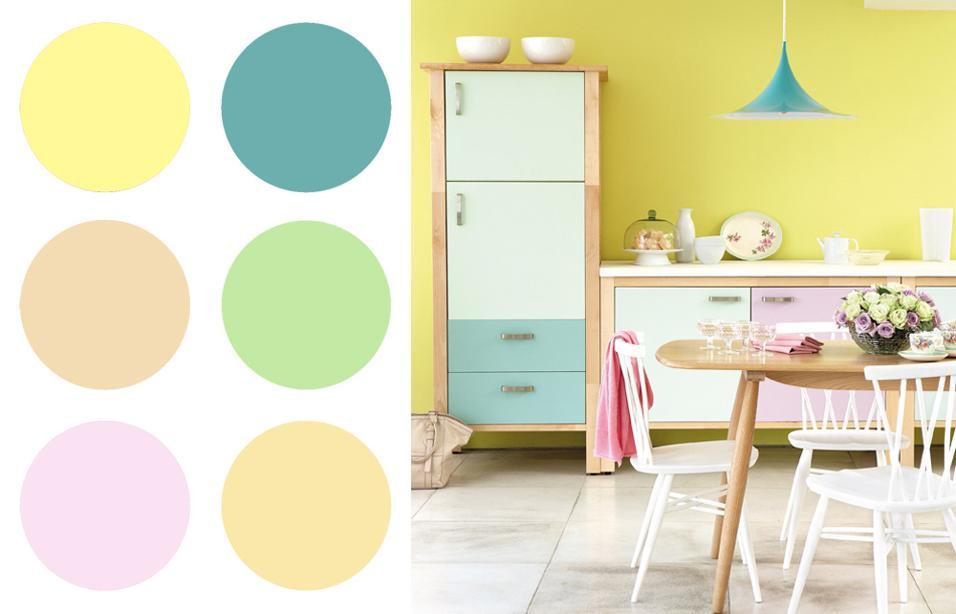 20 idee per dipingere le pareti di casa - Dipingere la cucina ...
