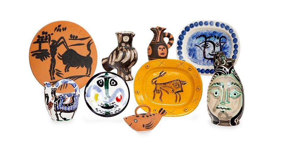 Christie's mette all'asta online, fino al 17 maggio, vasi e piatti creati e decorati dal celebre pittore