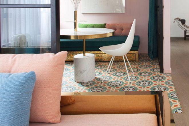 Ispirazioni per pavimenti decorati living corriere