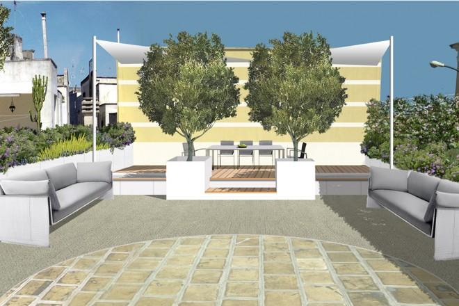 Arredare un terrazzo con confini e barriere naturali