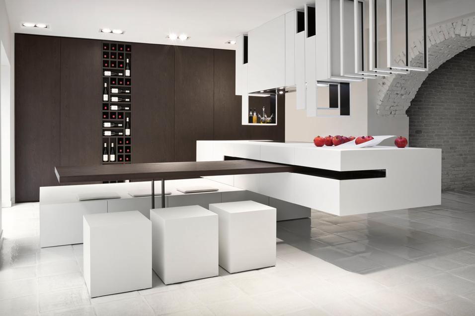 Cucine Con Isola E Tavolo ~ Ispirazione Per La Casa e L\'arredamento