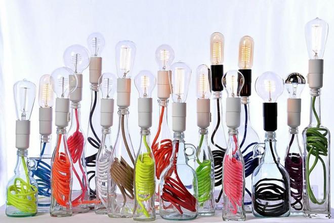 Lampade In Vetro Colorate : Creative light pollici rose basare lampada in vetro colorato