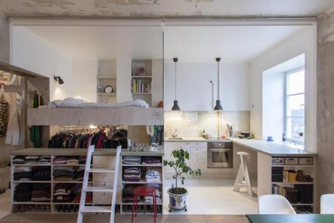 Mini appartamento a stoccolma for Mini appartamenti arredati giugliano