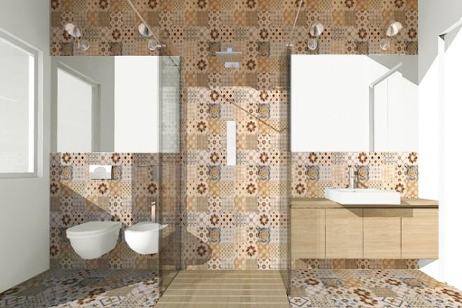 una doccia passante per un bagno stretto e lungo - livingcorriere