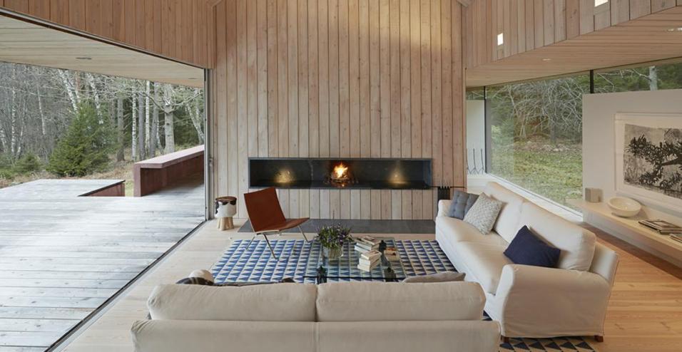 Tre abitazioni immerse nella natura svedese for Abitazioni interni
