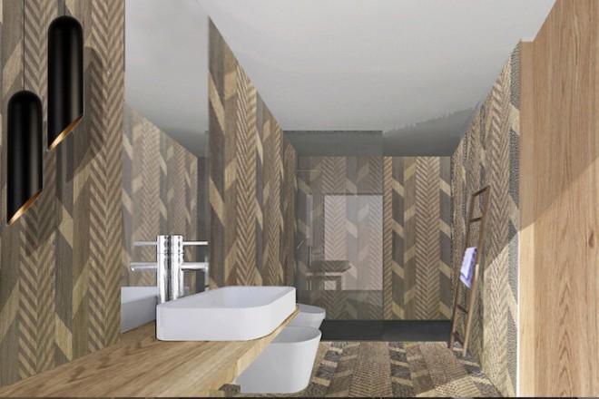 Come realizzare un bagno effetto legno - LivingCorriere