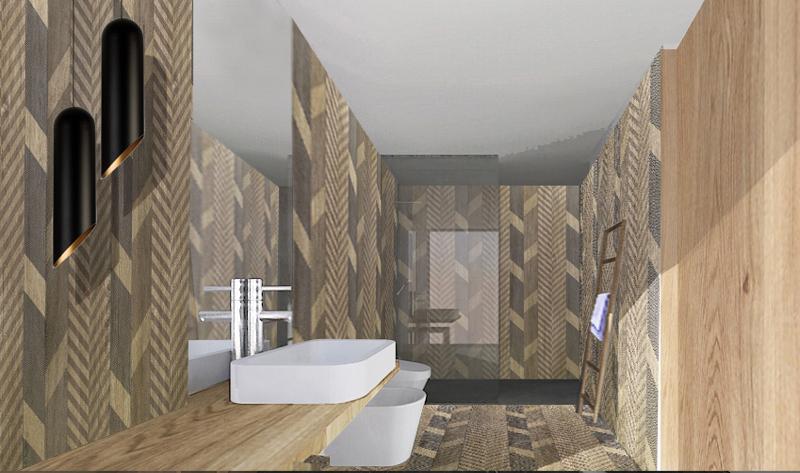 Come realizzare un bagno effetto legno foto 1 livingcorriere - Come realizzare un bagno ...