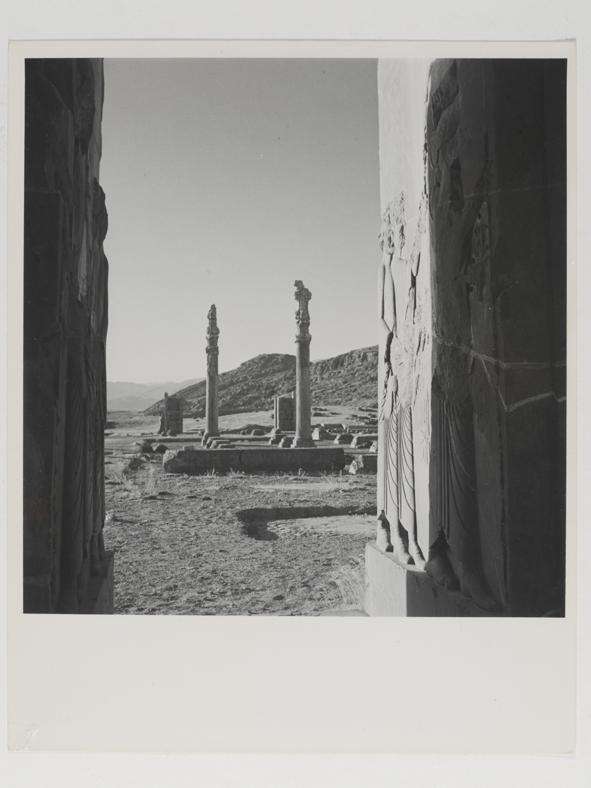 VIEW OF RUINS AT THE PALACE OF PERSEPOLIS