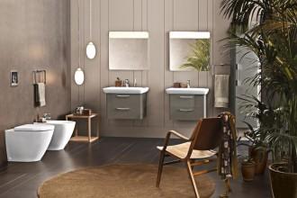 Se la vasca e la doccia sono extralarge, il lavabo sa essere piccolo, così come i sanitari e gli accessoriPozzi-Ginori Fast