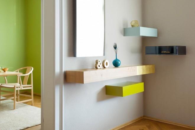 Scaffali in legno o acciaio per personalizzare la parete di casa con forme e coloriEpoca di Schönbuch