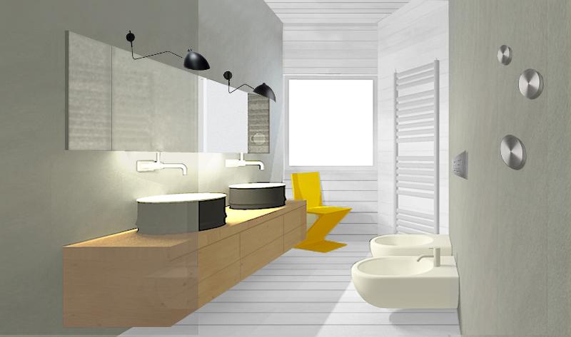 Rivestimento effetto legno foto 1 livingcorriere - Pavimento in legno per bagno ...