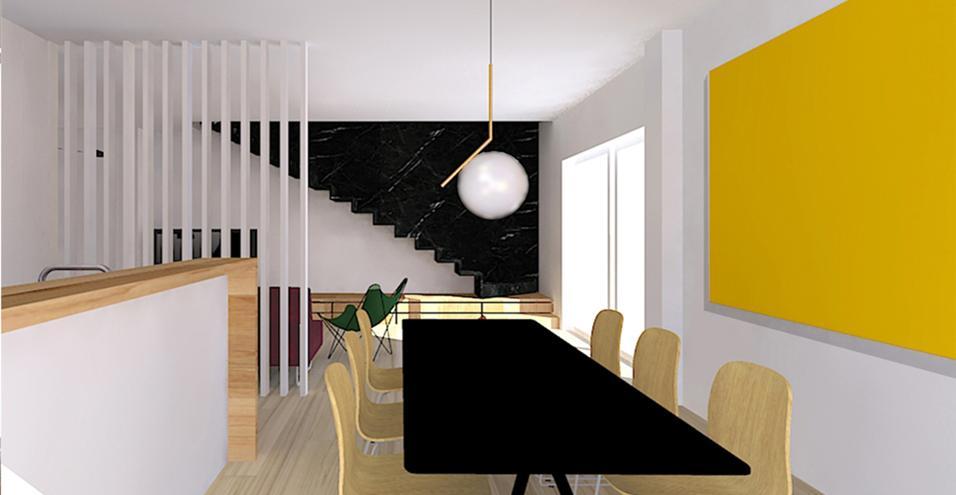 Come soddisfare le esigenze di una famiglia ridistribuendo le funzioni e sfruttando al meglio gli ambienti disposti su due piani. Protagonista una scala a sbalzo