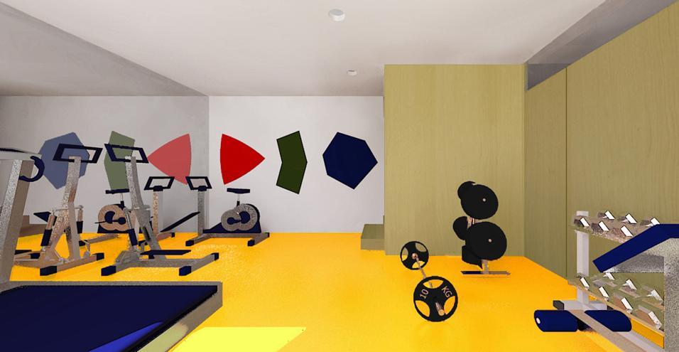 Come ricavare un ambiente fitness da un ampio seminterrato con doppio ingresso, uno indipendente e l'altro di collegamento con il livello superiore della casa