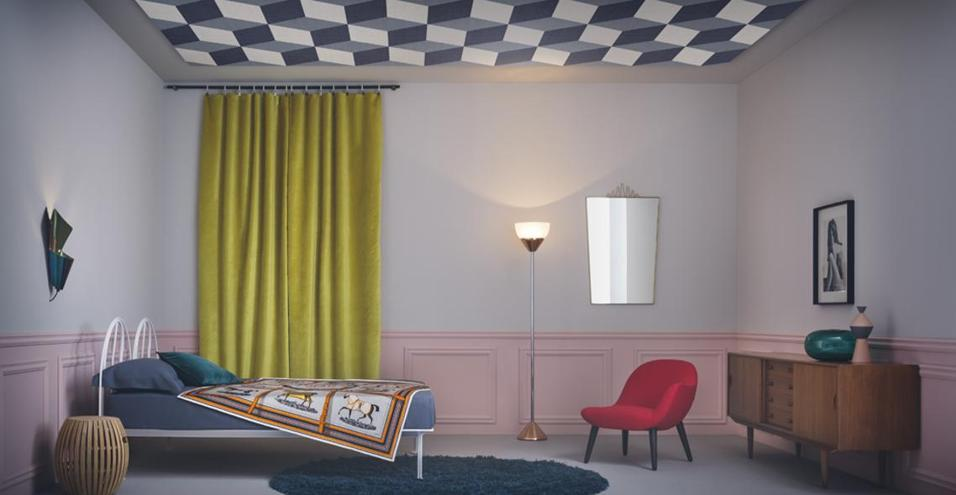 Sguardo al soffitto livingcorriere for Carta parati soffitto