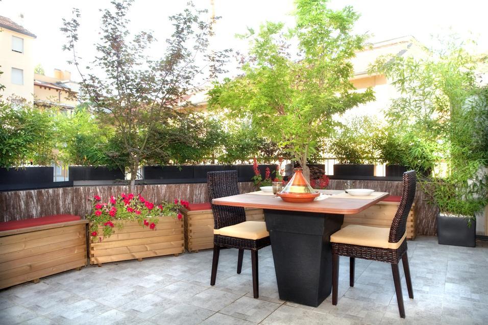 Un terrazzo in stile giapponese for Arredi ecosostenibili