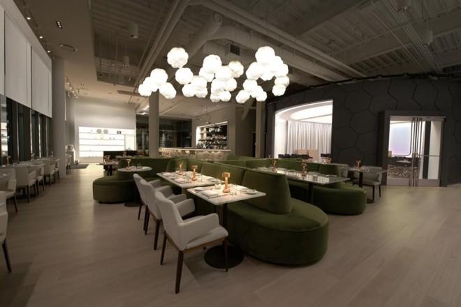 Il nuovo Café ArtScience è stato progettato come uno spazio aperto e multifunzione dove, tra un cocktail e l'altro, nascono nuove idee