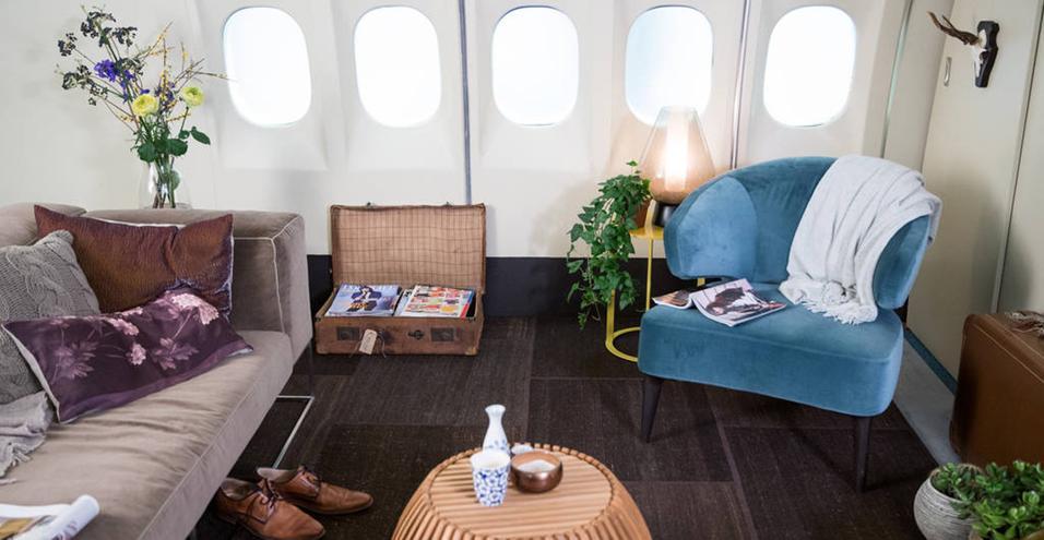 Dopo aver fatto il giro del mondo, un jet di linea KLM Royal Dutch Airlines diventa un appartamento da prenotare su Airbnb
