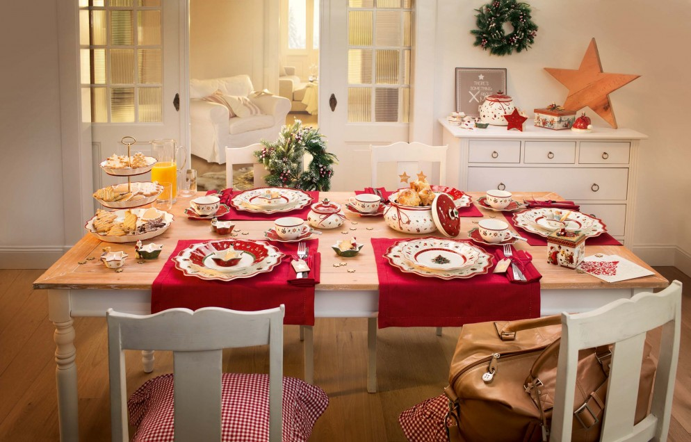 22 tovaglie natalizie per decorare la tavola