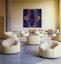 Elysee chairs, The Paintings Room, Palais de l'Élysée, Paris 1972. Courtesy Damish Danant