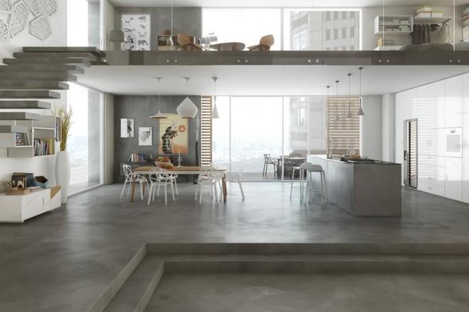 Pareti Interne Colorate : Pavimenti e pareti in cemento livingcorriere