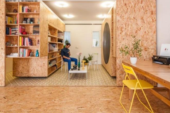 Spazi modulari in una casa mediterranea for Case modulari mediterranee