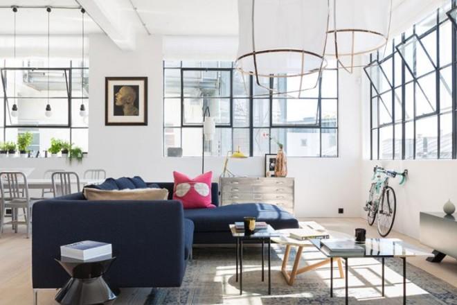 Loft a Londra con interni in stile industriale
