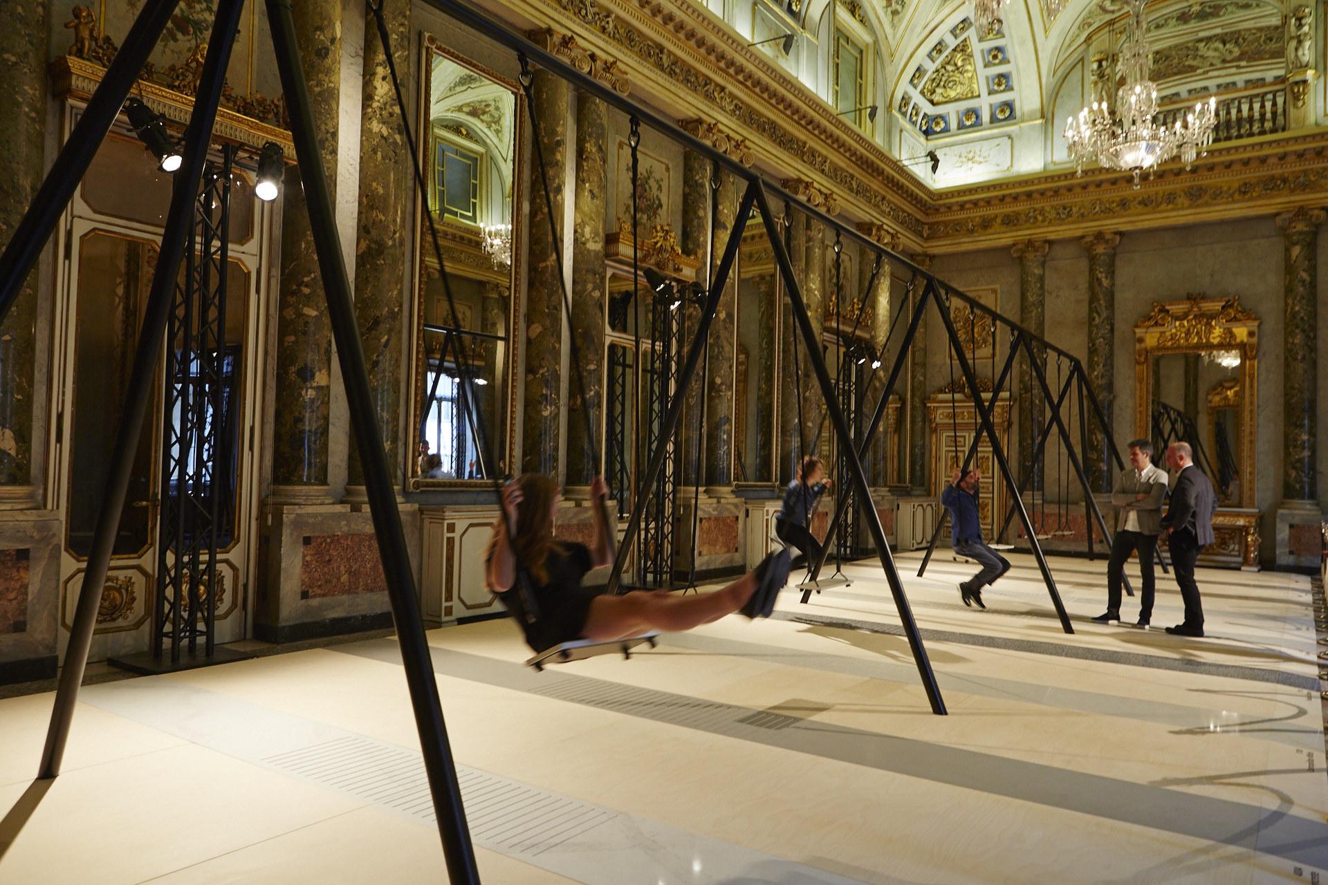 L 39 installazione in quarzo caesarstone a palazzo serbelloni - Mostre design milano ...