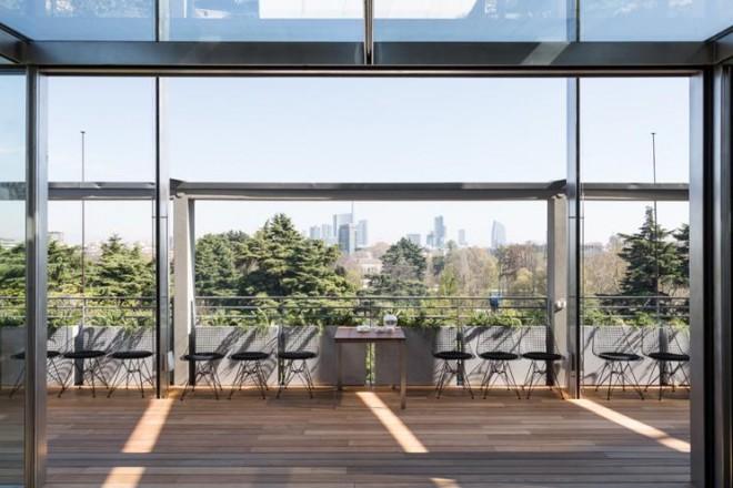 Il ristorante panoramico della Triennale di Milano