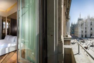 TownHouse Duomo è l'unico albergo di lusso con vista sulla piazza della Cattedrale milaneseCamere con vista