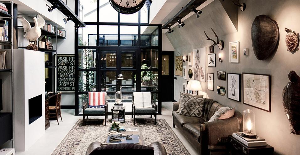 Loft in stile industriale ad amsterdam - Camera da letto stile industriale ...