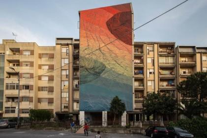 Dieci artisti, dieci superfici, dieci giorni. I graffiti che hanno trasformato le periferie di Catanzaro realizzati durante ALT!rove Festival